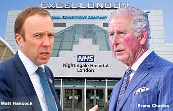 Londra'daki Exel Fuar Merkezi 4000 Yataklı Hastane Oldu