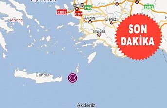 Akdeniz'de 5,2 büyüklüğünde deprem!