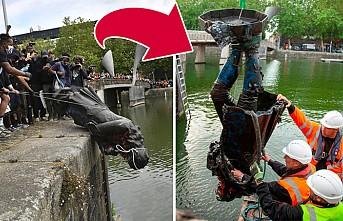 Yıkılıp Nehre Atılan Köle Taciri Colston'un Heykeli Geri Çıkarıldı