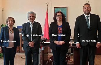 Konsey'in Yeni Yönetimi Büyükelçi Tuncalı'yı Ziyaret Etti