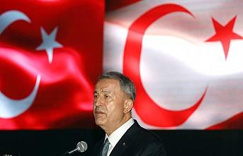 """Bakan Akar'dan """"Doğu Akdeniz"""" Mesajı"""