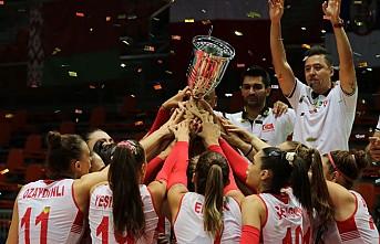 Kız Voleybol Milli Takımı'nda Avrupa Şampiyonluğu sevinci