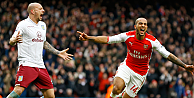 Arsenal, ligde Aston Villayı farklı yendi:5-0