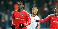 Beşiktaş, Kasımpaşadan 3 puanı Demba Banın 2 golüyle aldı