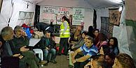 Britanya Alevilerinden çadırda imza kampanyası