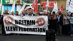 Britanya Alevileri'nden Okmeydanı protestosu