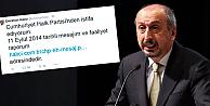 CHP Milletvekili Twitter üzerinden istifa etti!