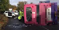 Çift katlı otobüs devrildi, çok sayıda yaralı var!