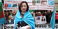 Çin yönetimi Londrada protesto edildi