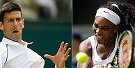 Djokovic ve Serena Williams, Wimbledona galibiyetle başladı