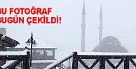 Erciyese yılın ilk karı yağdı