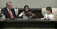 Erdoğan, 23 Nisan çocuklarını kabul etti