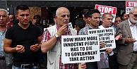 Erdoğan Güzel için Londrada çetelere karşı protesto