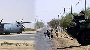 Fransız askerleri, Timbuktu havaalanında