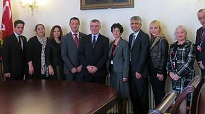 Konsey yönetiminden diplomat ziyaretleri