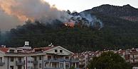 Marmariste büyük yangın, evler tahliye diliyor