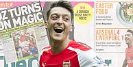 Mesut Özil, İngiliz gazetelerin manşetlerinde