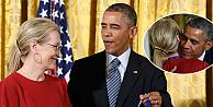 Obama, Meryl Streepe olan aşkını böyle itiraf etti!