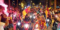 Şampiyon Galatasaray kutlamalara başladı
