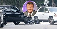 Ünlü futbolcu yine trafik kazası yaptı