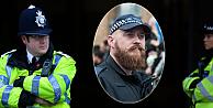 Uzun sakallı polis, çenesine file takacak