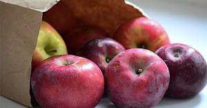 Çantasına diş seti ve bir elma koyun