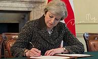 İngiltere Başbakanı 'Brexit' tarihi imzayı attı