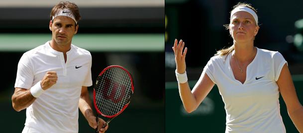Wimbledonda Federer devam, Kvitova tamam dedi