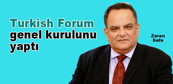 Zeren Safa Turkish Forum başkanlığına seçildi