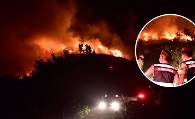 Bodrum'da gece yarısı korkutan yangın!