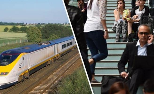 Eurostar trenlerinin çalışanları, iş bıraktı