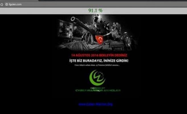 Fetullah Gülen'in web sitesi 'hack'lendi