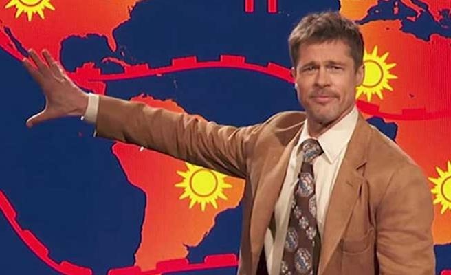 Brad Pitt 'hava durumu sundu'