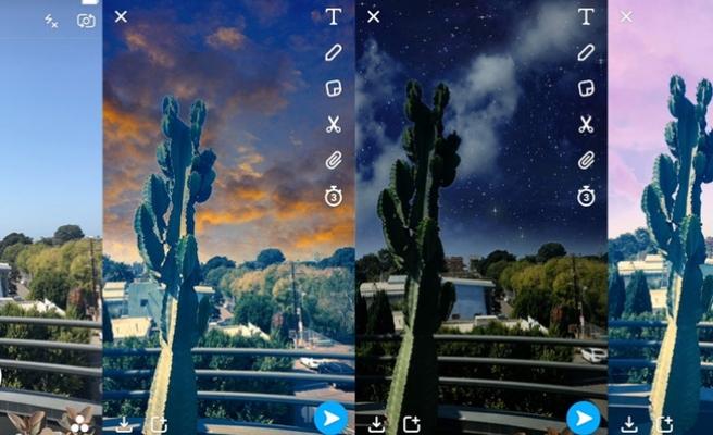 Snapchat'ten gökyüzüne filtre