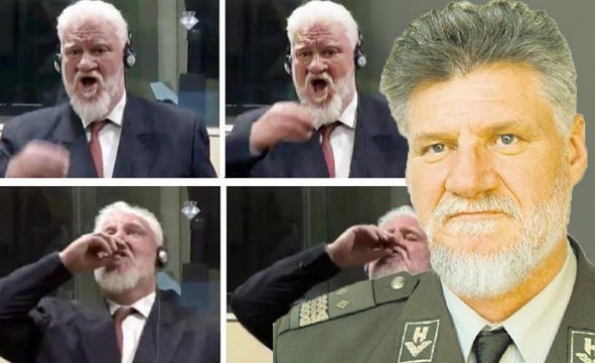 Eski Hırvat generalin mahkemede ne içtiği açıklandı