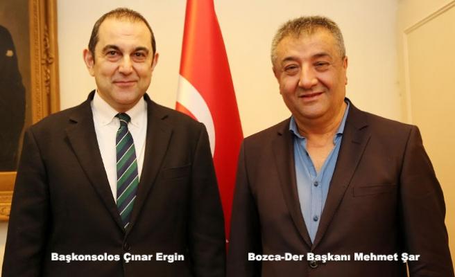 Bozca-Der Yönetiminden Başkonsolos Ergin'e ziyaret