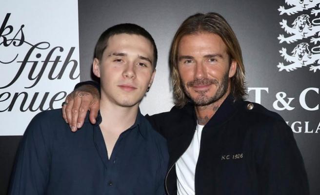 David Beckham'ın oğlu, yeni sevgilisiyle öpüşürken yakalandı