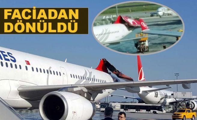 Atatürk Havalima'nda İki Uçak Çarpıştı