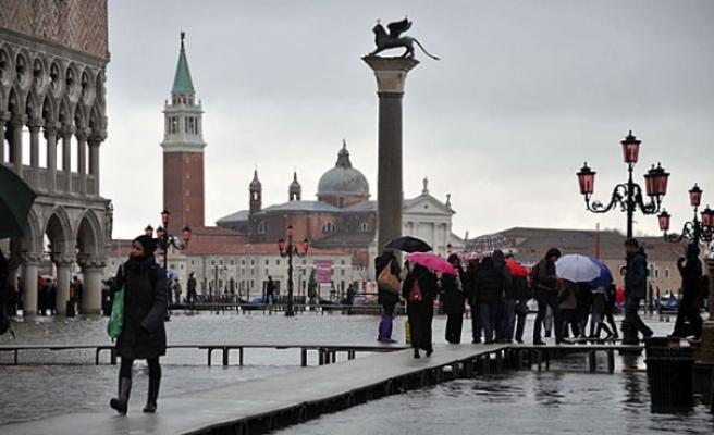Venedik'te son 10 yılın en büyük seli