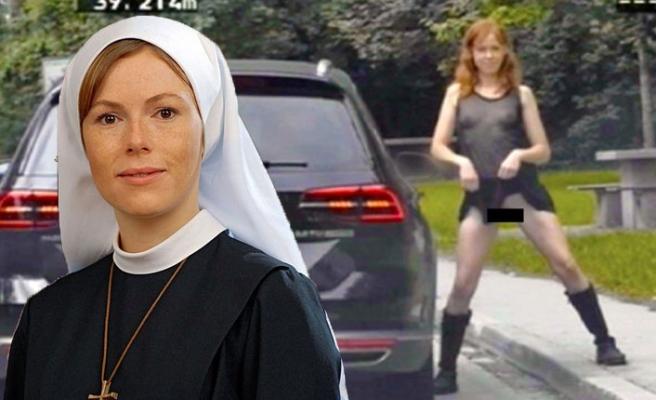 'Rahibe Jenny' yol kenarında soyununca cezayı yedi