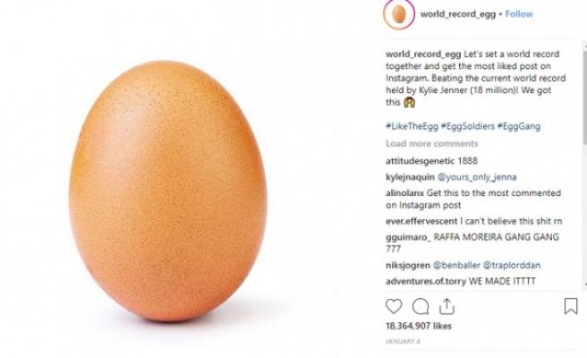 İnstagram rekoru 'yumurta' fotoğrafıyla kırıldı