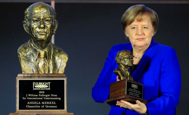 Merkel'e Fulbright Uluslararası Anlayış Ödülü
