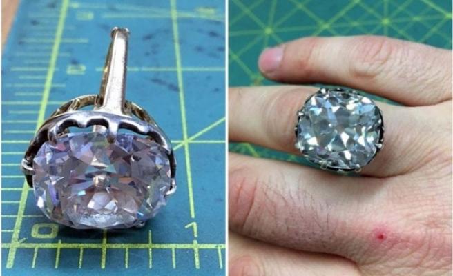 İkinci el pazarından alınan yüzük elmas çıktı