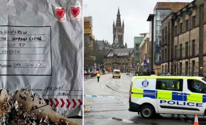 Glasgow Üniversitesi'ne Bombalı Paket