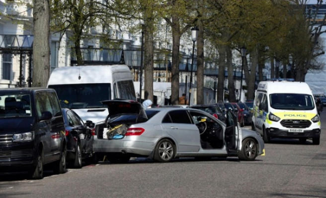 Ukrayna'nın Londra Büyükelçisinin makam aracına saldırı