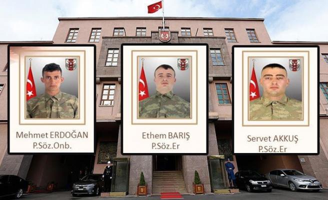 Hakkari'de PKK/YPG terörist saldırısı 3 asker şehit