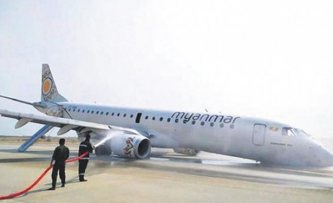 Pilot, ön iniş takımları açılmayan uçağı indirdi