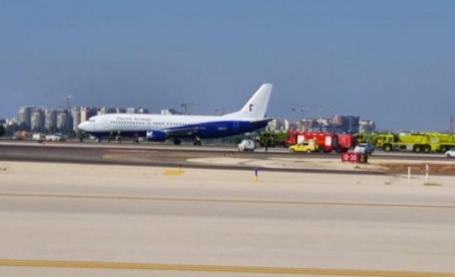 Almanya'dan gelen uçak Tel Aviv'e sorunsuz acil iniş yaptı