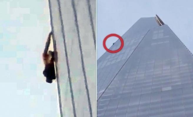 Bir kişi halatsız İngiltere'nin en yüksek binasına tırmandı