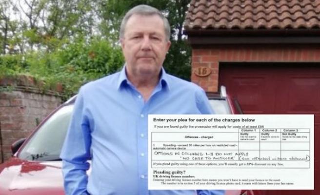 İngiltere'de trafik cezasına karşı hukuk mücadelesi başlatan adam pışman